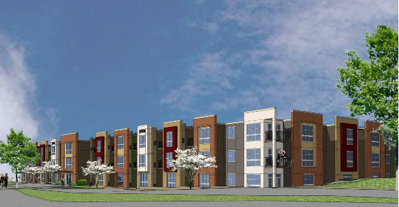 Rendering of the new 91-unit affordable senior living facility