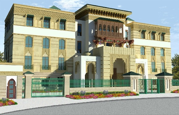 Concept of the new Moroccan chancery in Van Ness.