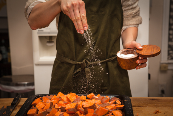 Seasoning sweet potatoes