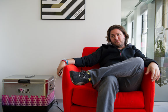 Peter Corbett, president and CEO of iStrategyLabs, in his office