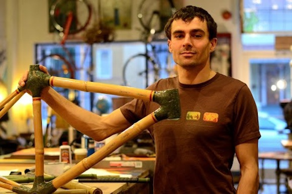 Philip Ankney of District Bamboo Bikes makes custom bicycles with bamboo frames