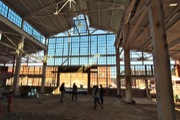 The under-construction interior of the forthcoming Bluejacket Brewery