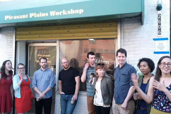 Pleasant Plains Workshop was visited by a recent Cash Mob orchestrated by Think Local First