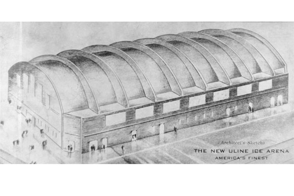 1941: Architect's sketch of Uline Arena