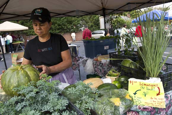 "Rosa Linares ""just showed up"" at the market one day, hoping to sell her homegrown produce. Now she's a regular vendor"