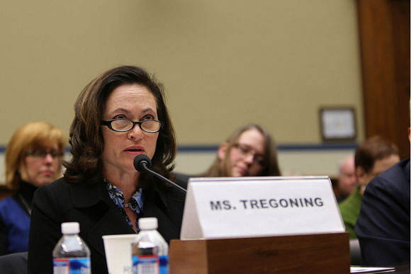 Tregoning testifying at a Congressional hearing about D.C.'s Height Act