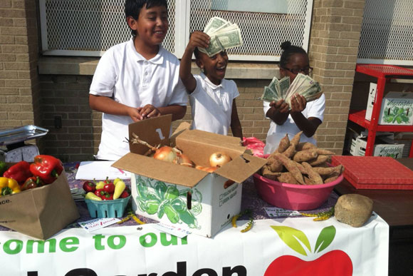 DC students sell produce at their school farmers' market