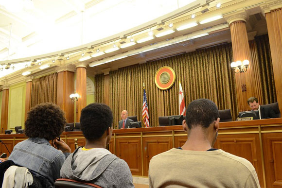 Critical Exposure fellows testify at the D.C. Council about the school-to-prison pipeline
