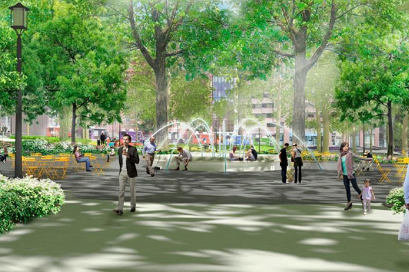 A rendering of the reimagined Franklin Park