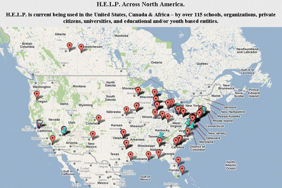 H.E.L.P. lesson plans are used across North America