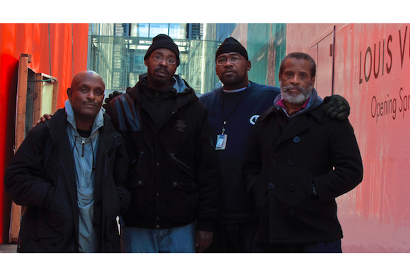 "Directors of the first three ""Cinema from the Street"" documentary shorts:  Robert Warren, Reginald Black, Levester Green, and Morgan Jones"