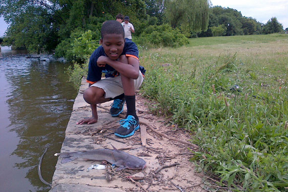 Fishing at the Aquatic Resources Education Center