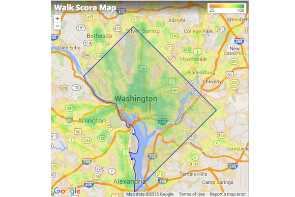 DC's most walkable neighborhoods, according to Walkscore