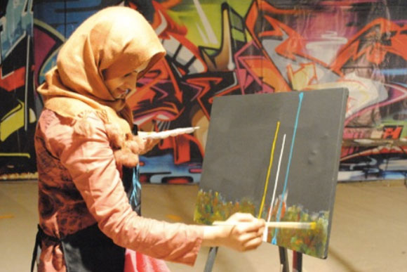 An ArtJamz pop-up in Pakistan