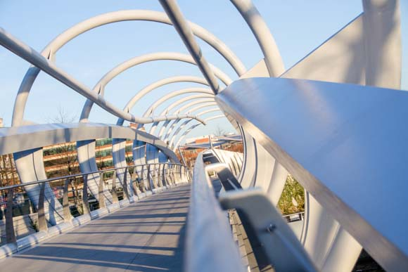 Yards Park pedestrian bridge