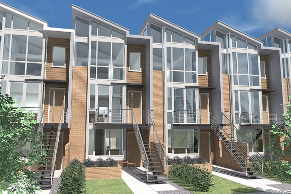 Architectural rendering of 17 Solar residential development