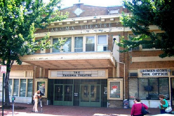 The front of the Takoma Theatre, spring 2008