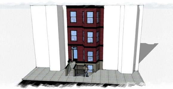 A preliminary rendering of 2823 11th St NW