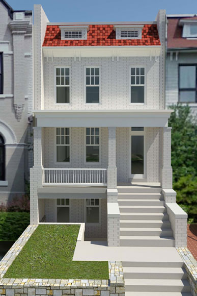 Row housing elevation joy studio design gallery best for Best row house designs