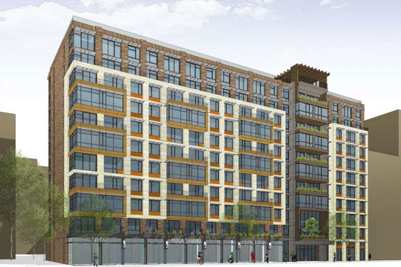 Preliminary rendering for the new Portner Place building fronting U St