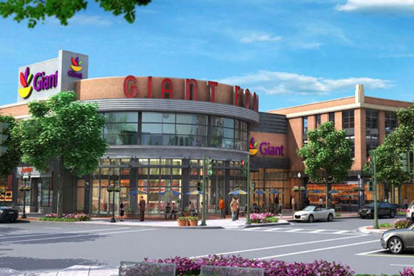 Rendering of the new Giant being built at Cathedral Commons