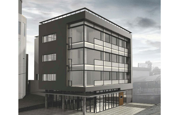 A rendering of 4619 46th St NW; Bread & Salt will occupy the ground floor