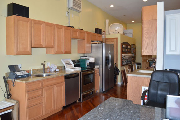 The showroom at Mirror Image Builders is set up much like a typical rowhome kitchen, because it is one
