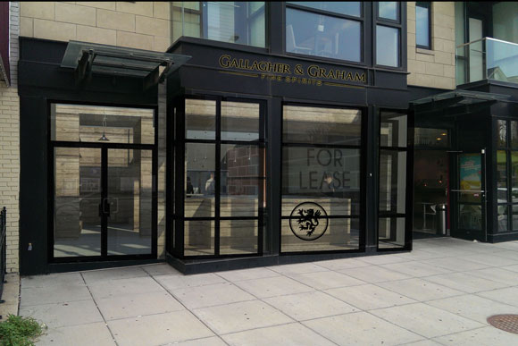 A rendering of the outside of Gallagher and Graham Fine Spirits