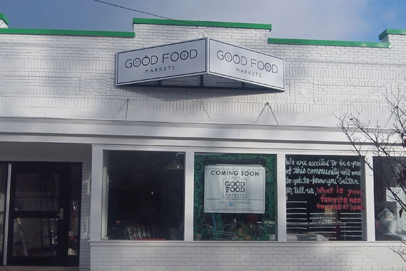 After renovation, the facade of Good Food Market, coming to Woodridge, looks like this