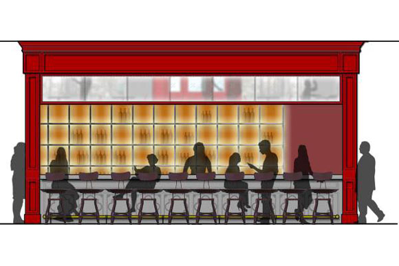 An early concept of the restaurant