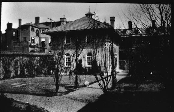 Historic photo of the Heurich House carriage house