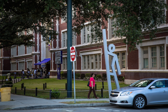 Public sculptures in New Orleans serve as evacuation spots