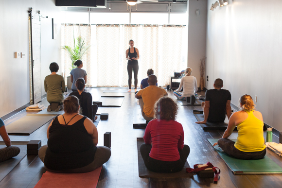 Yoga Heights opened last year at 3506 Georgia Ave NW, a few blocks from the Petworth metro