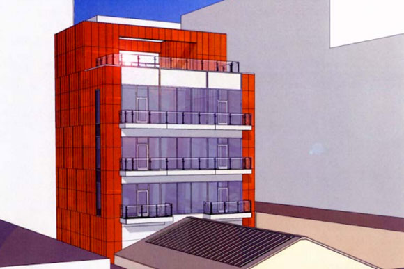 The design for the addition at 915 F St NW