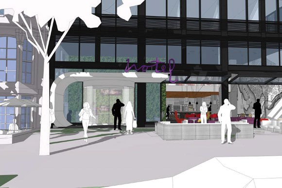 Rendering of The Moxy at 11th and K